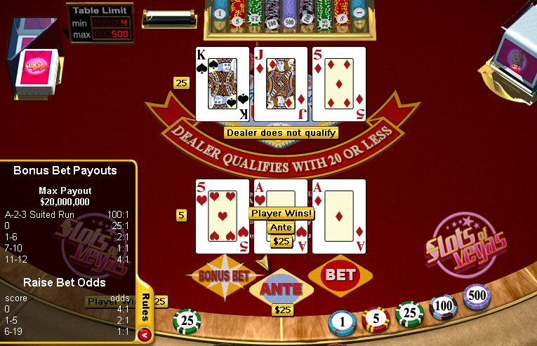 online casino table games  free